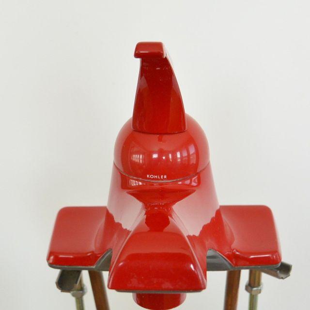 Vintage e Piece Red Bathroom Sink Faucet Candy Apple Red Kohler