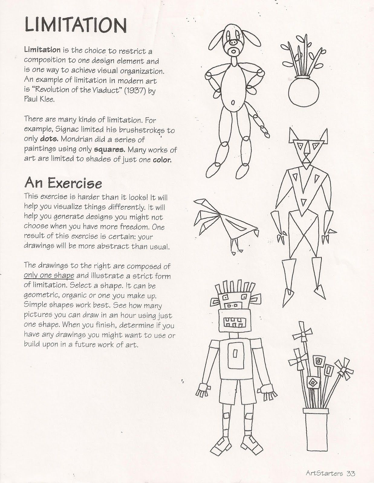Ande Cook S Limitation Handout With An Art Education