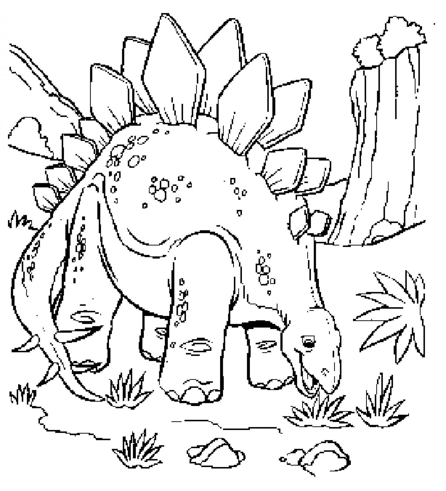 Dinosaur Coloring Pages Free Printable 4