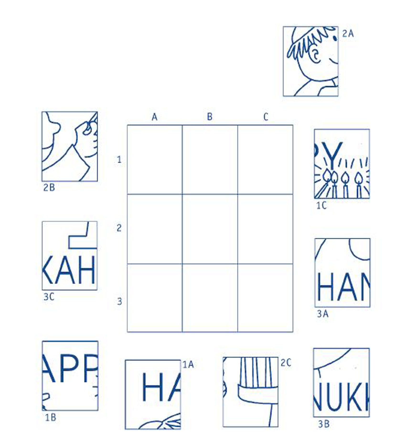 Hanukkah Worksheets Copy Card