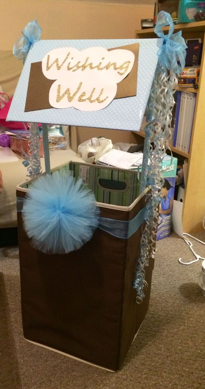 diy wishing well for bridal shower