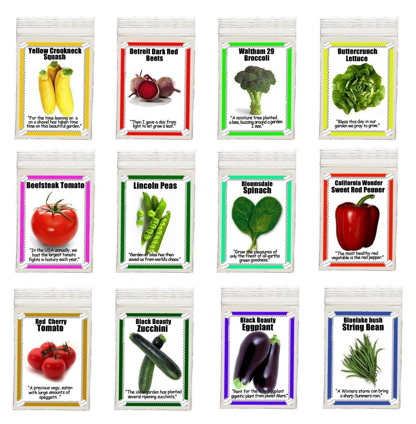 Amazon Heirloom Garden Vegetable Seeds Non Gmo Easy