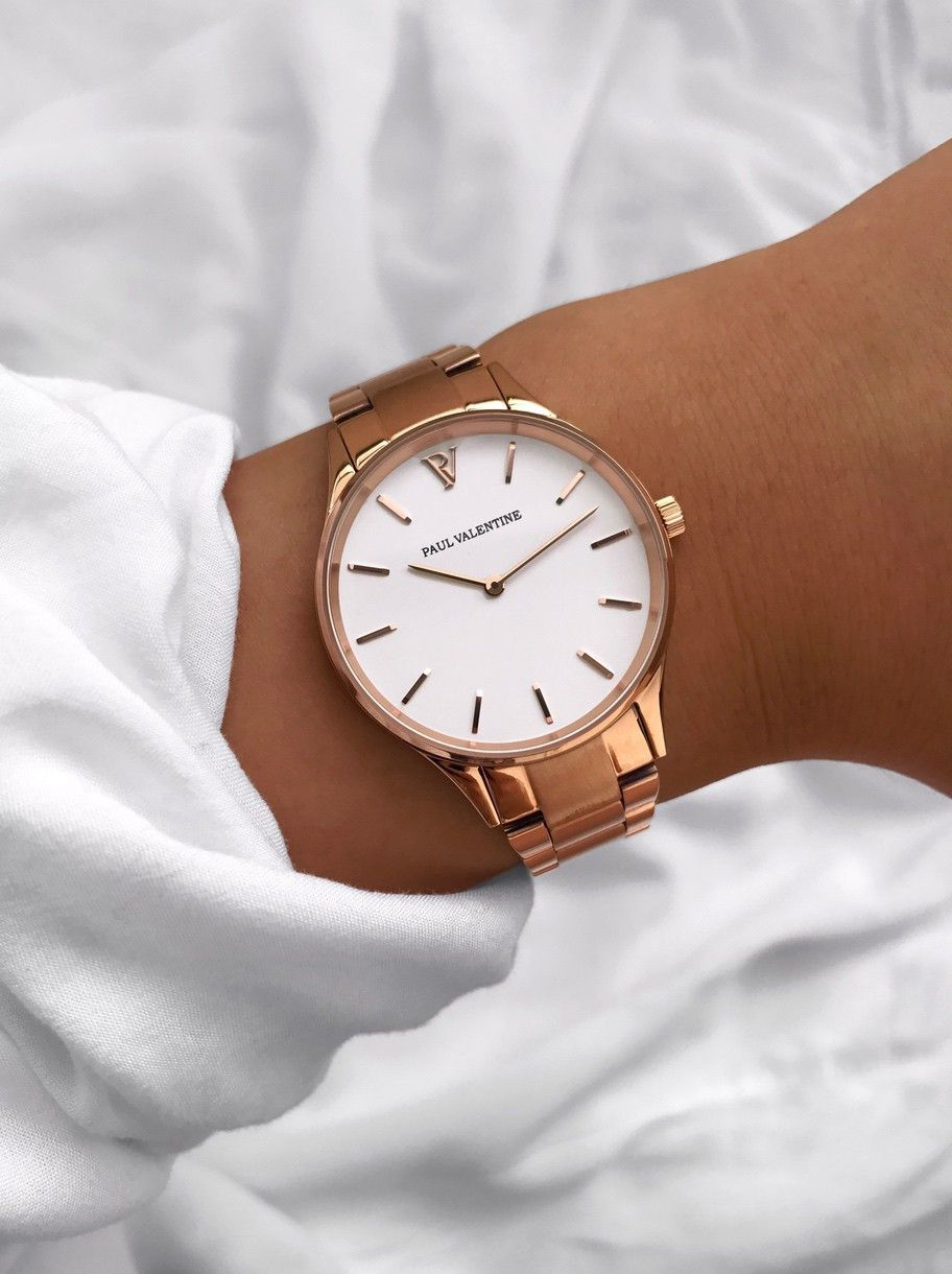 Hermosa Rose Gold White Rose And Gold