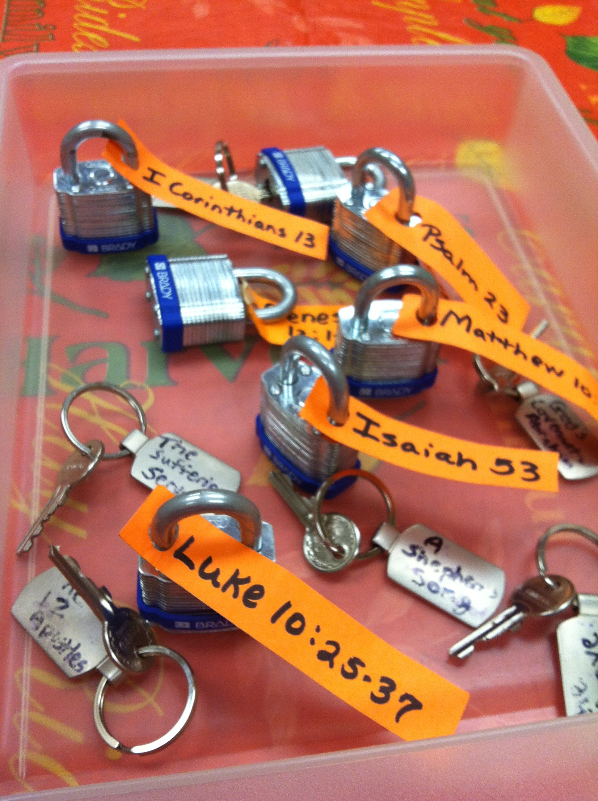 This Might Be Good For The Last Day Bible Activity Bible Drill Key Passage Locks And Keys