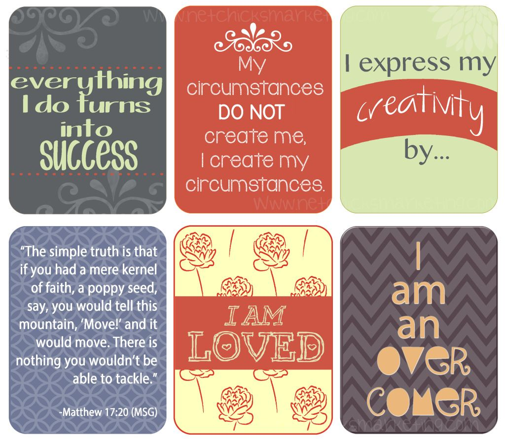 Free Download Positive Affirmations Printable