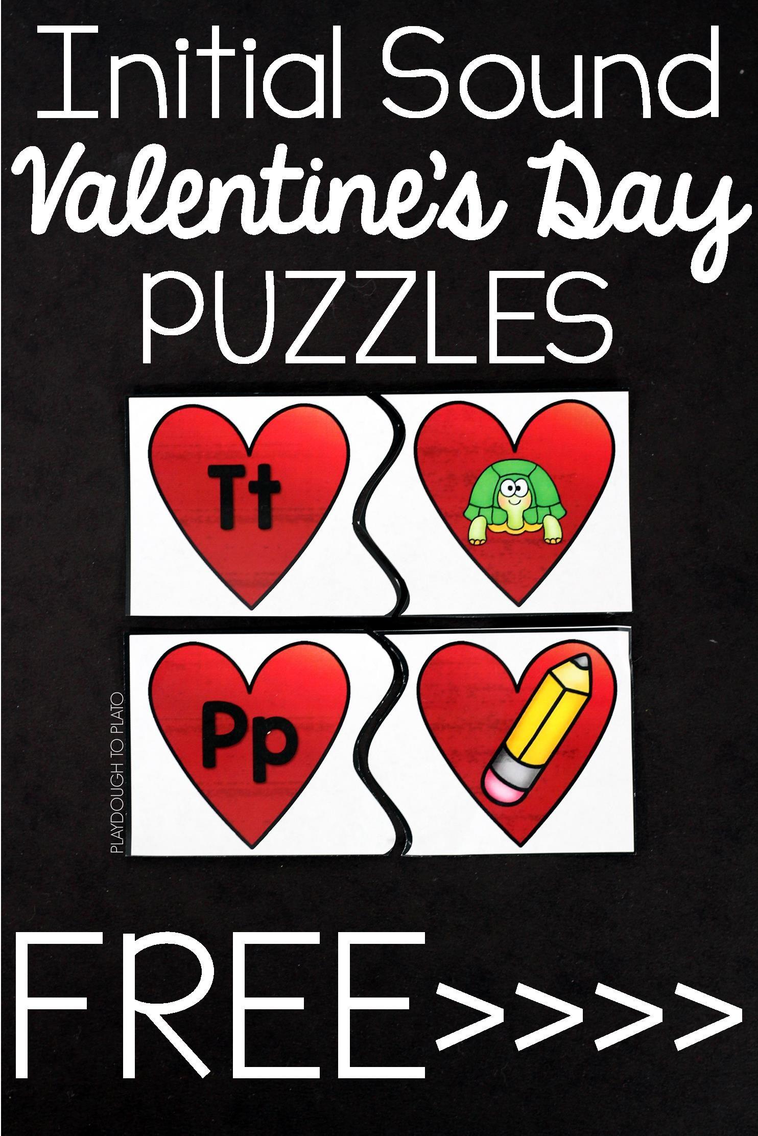 Beginning Sound Valentine S Day Puzzles