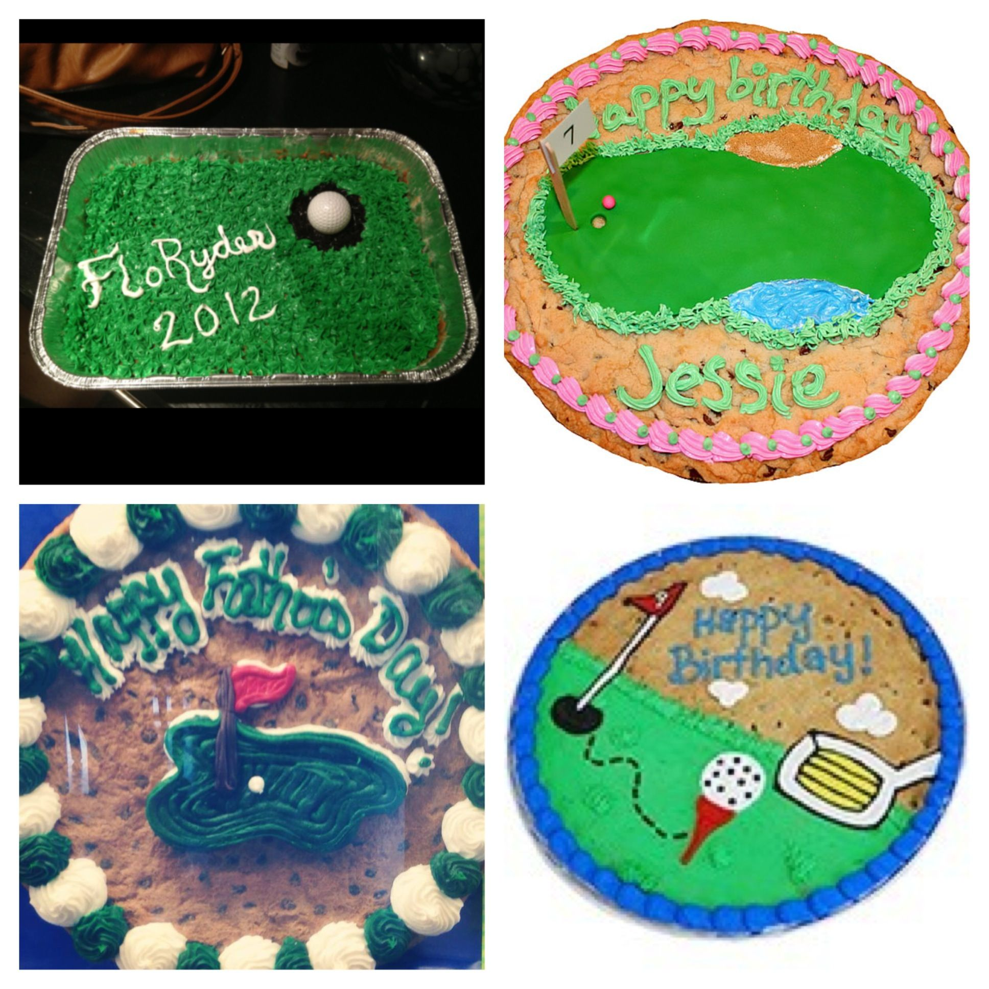 Father S Day Cookie Cake Ideas Using A Golf Theme