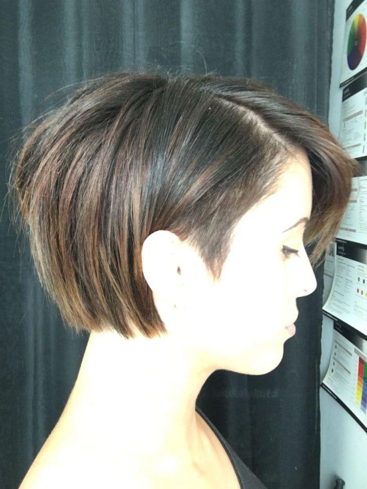 undercut bob balayaged short hair Coiffures Pinterest