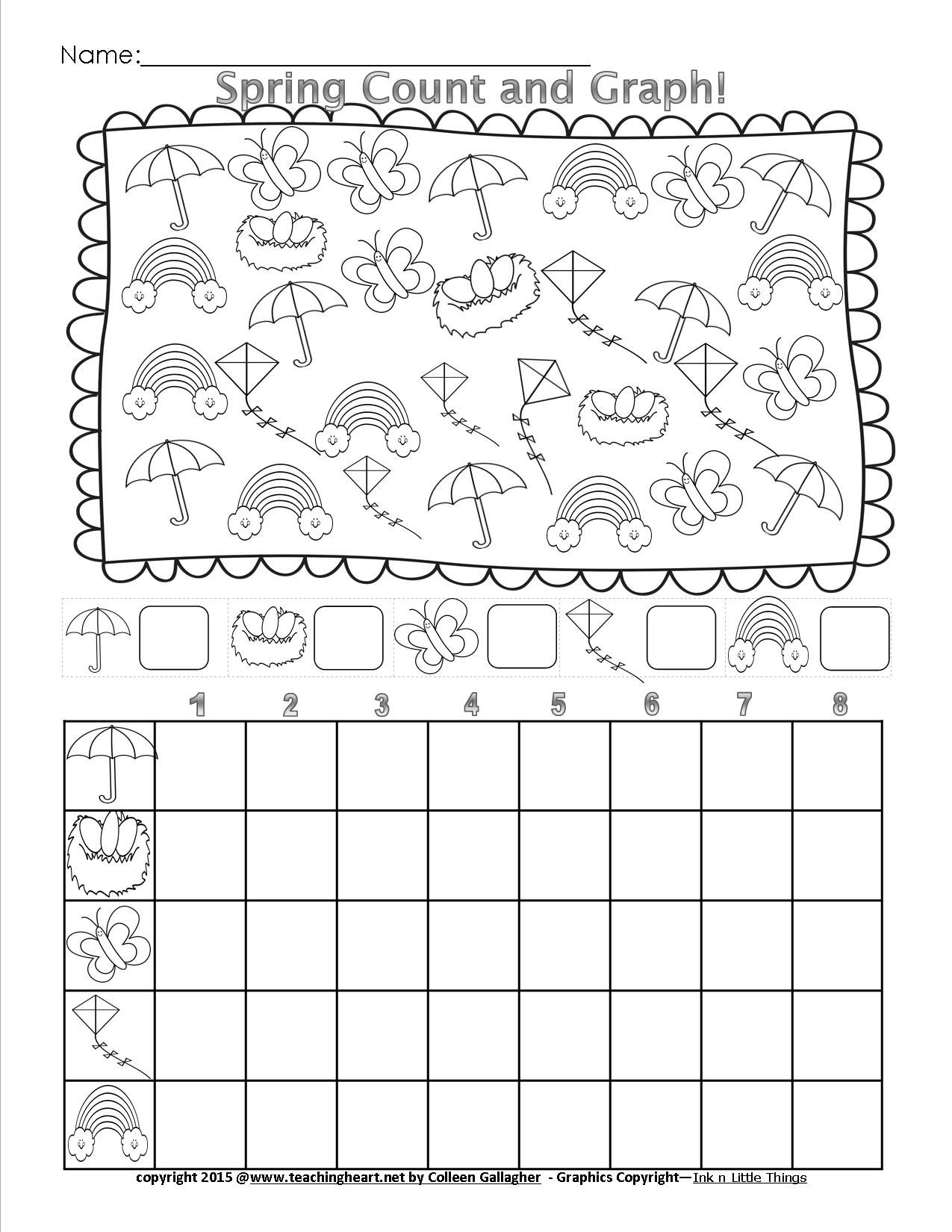 Graphing Worksheets Kindergarten Free Worksheets Library
