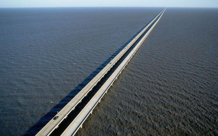 Image result for Lake Pontchartrain Causeway, Louisiana