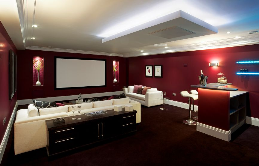 100 awesome home theater and media room ideas for 2018 on basement bar paint colors id=48412