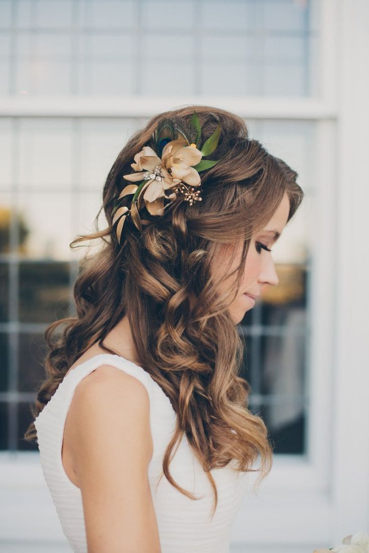 Veil Bridal Hairstyles for Your Wedding Day Half updo Wedding
