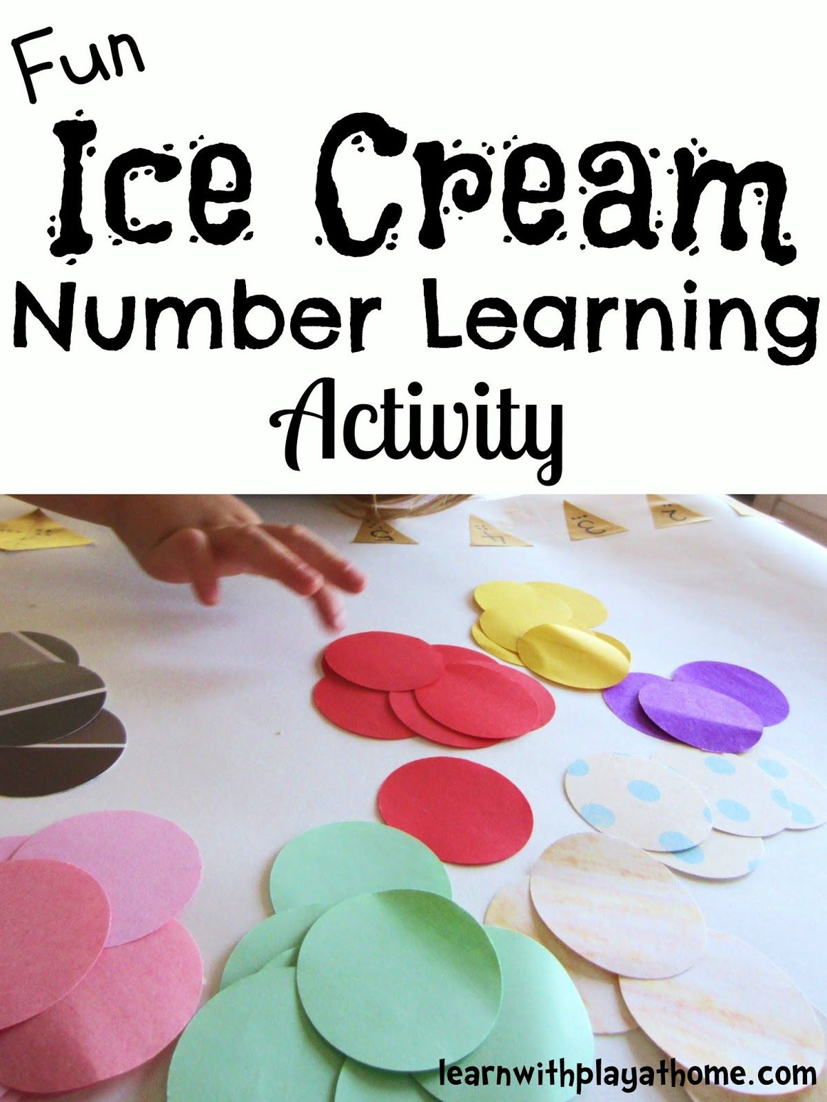 Ice Cream Number Learning Activity