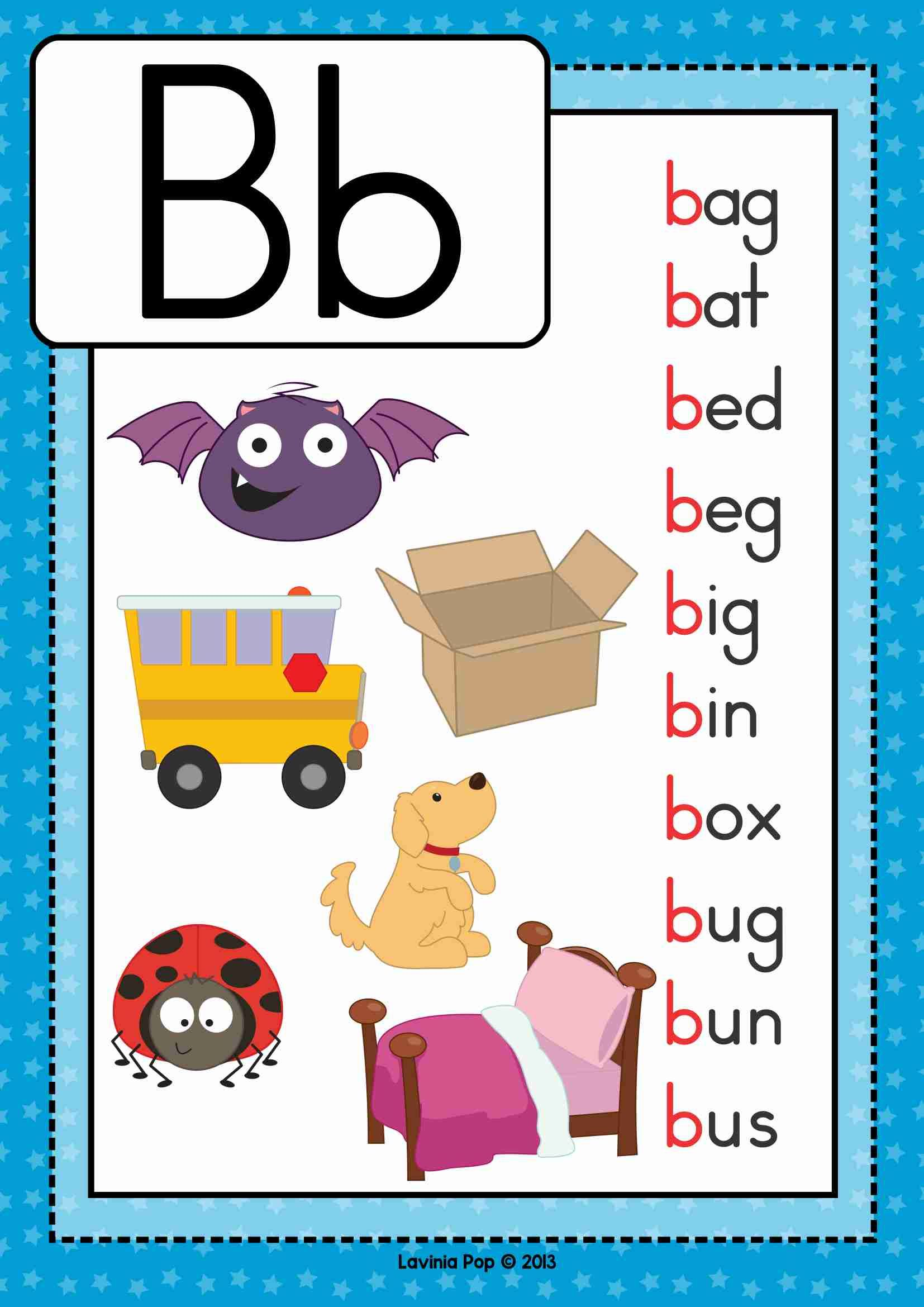 Free Phonics Letter Of The Week B Beginning B Cvc Words