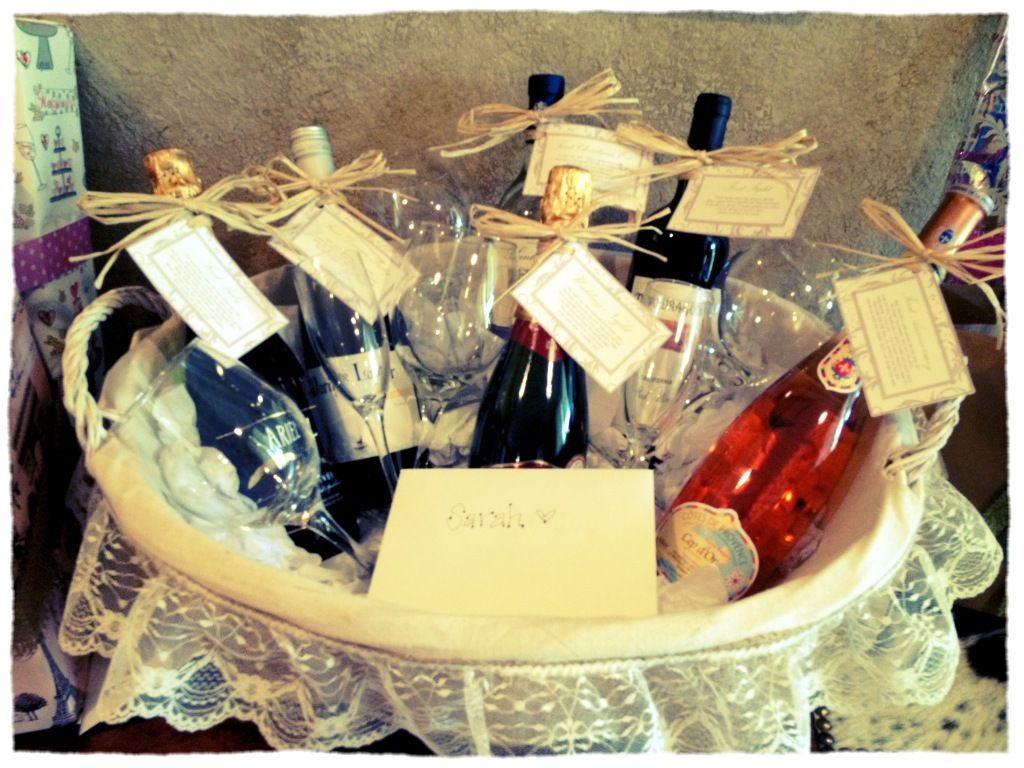 Great Wedding Shower Gift! A Basket Filled With Different
