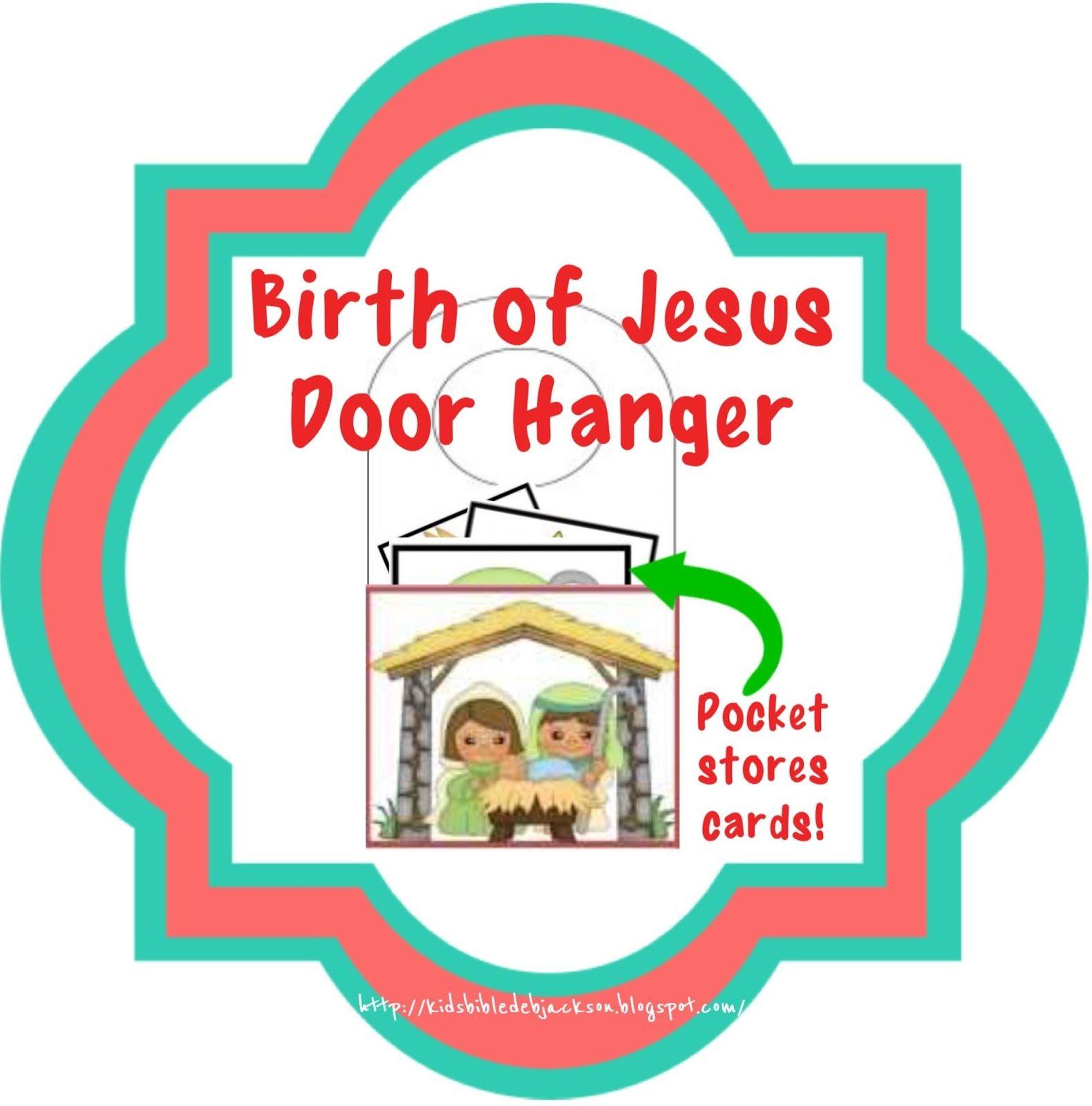 Luke 2 1 20 Jesus Was Born Birth Of Jesus Door Hanger