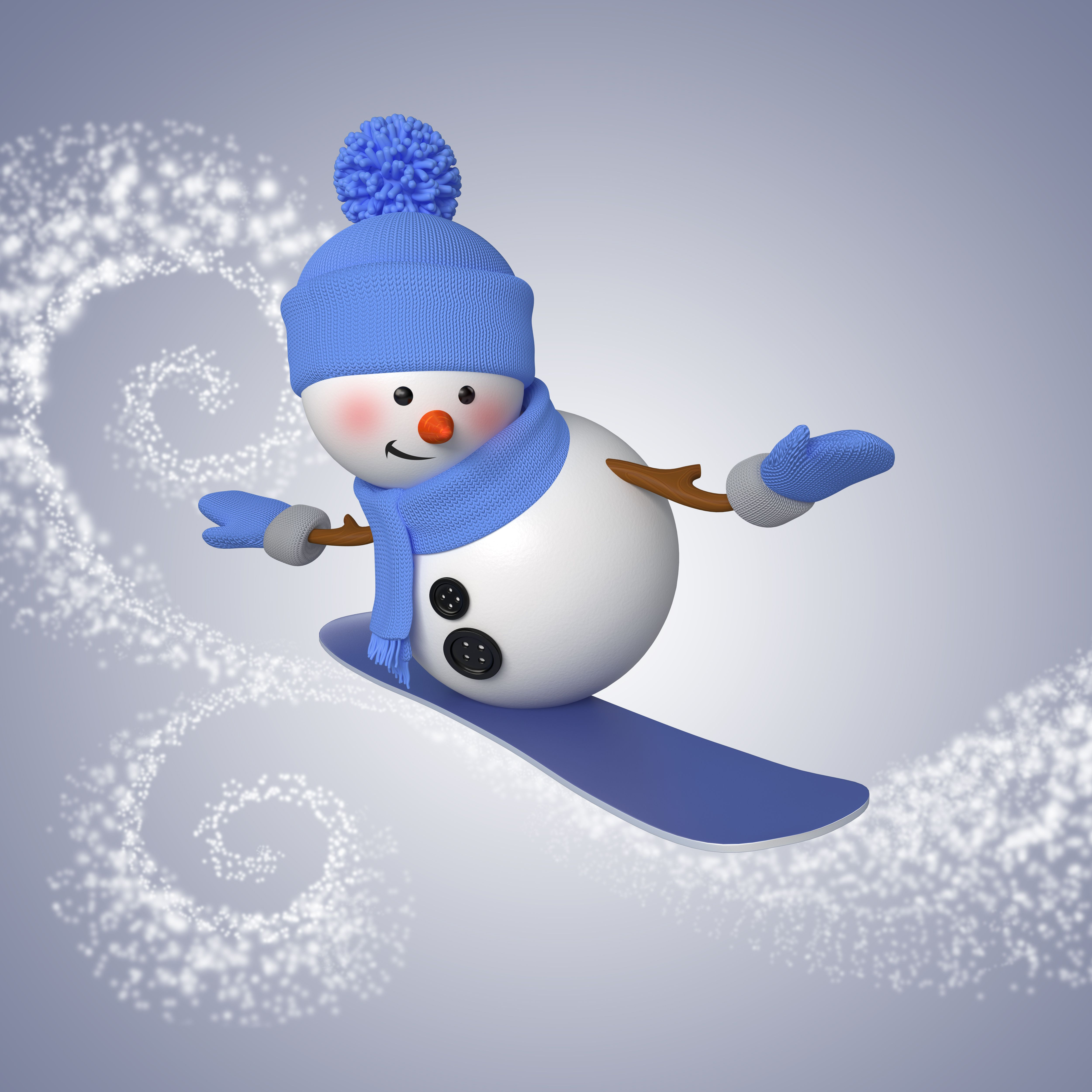 snowman new year screensavers