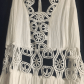 Vintage style embroidered cutout dress flowing dresses and
