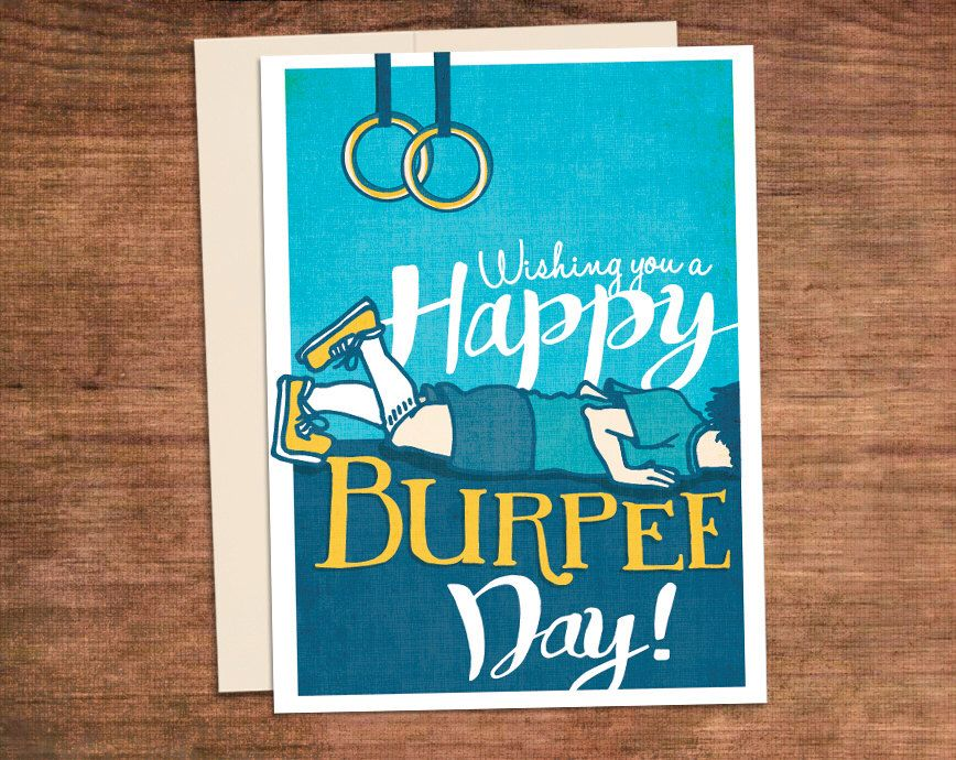 Crossfit Birthday Burpee Card Happy Burpee Day