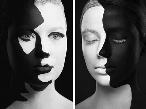 Cool Face Paint Black And White Google Search