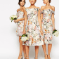Floral print wedding dresses  Wedding ready kbourne  bridesmaids idea  affordable multiple