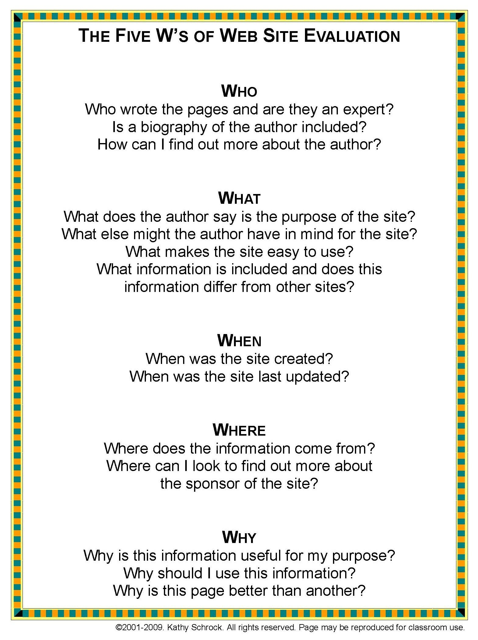 Guiding Questions For Internet Research Reliability