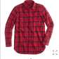 Red flannel shirts  J Crew boyfriend flannel shirt in red plaid  Red flannel Red