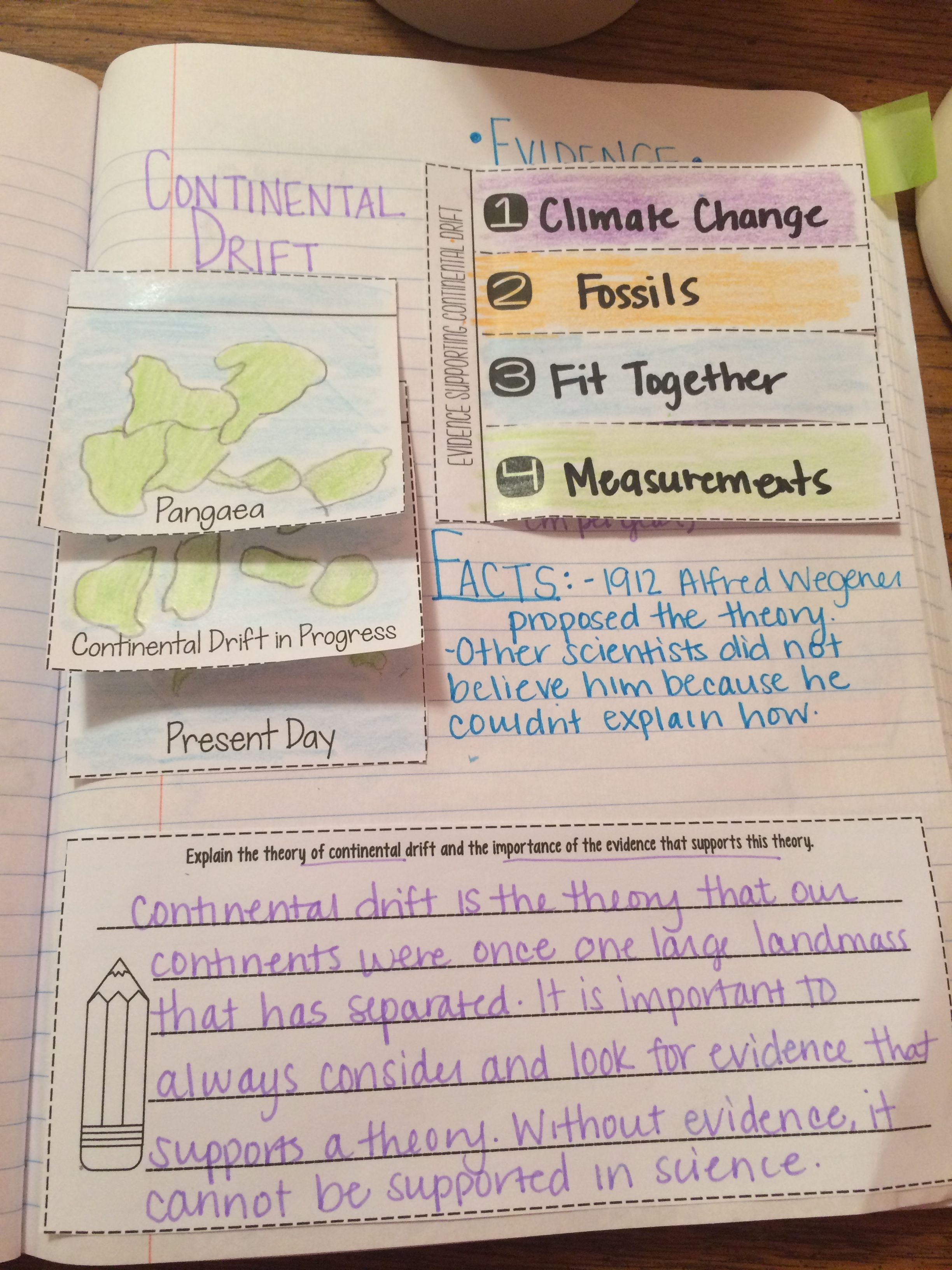 Continental Drift Reading Comprehension Interactive