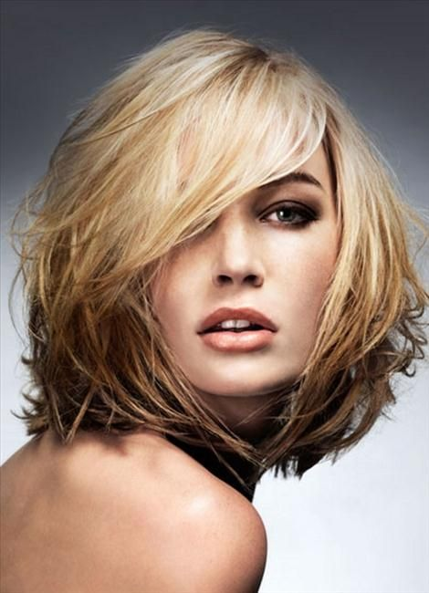 Medium Hair Cuts For Fine Round Face