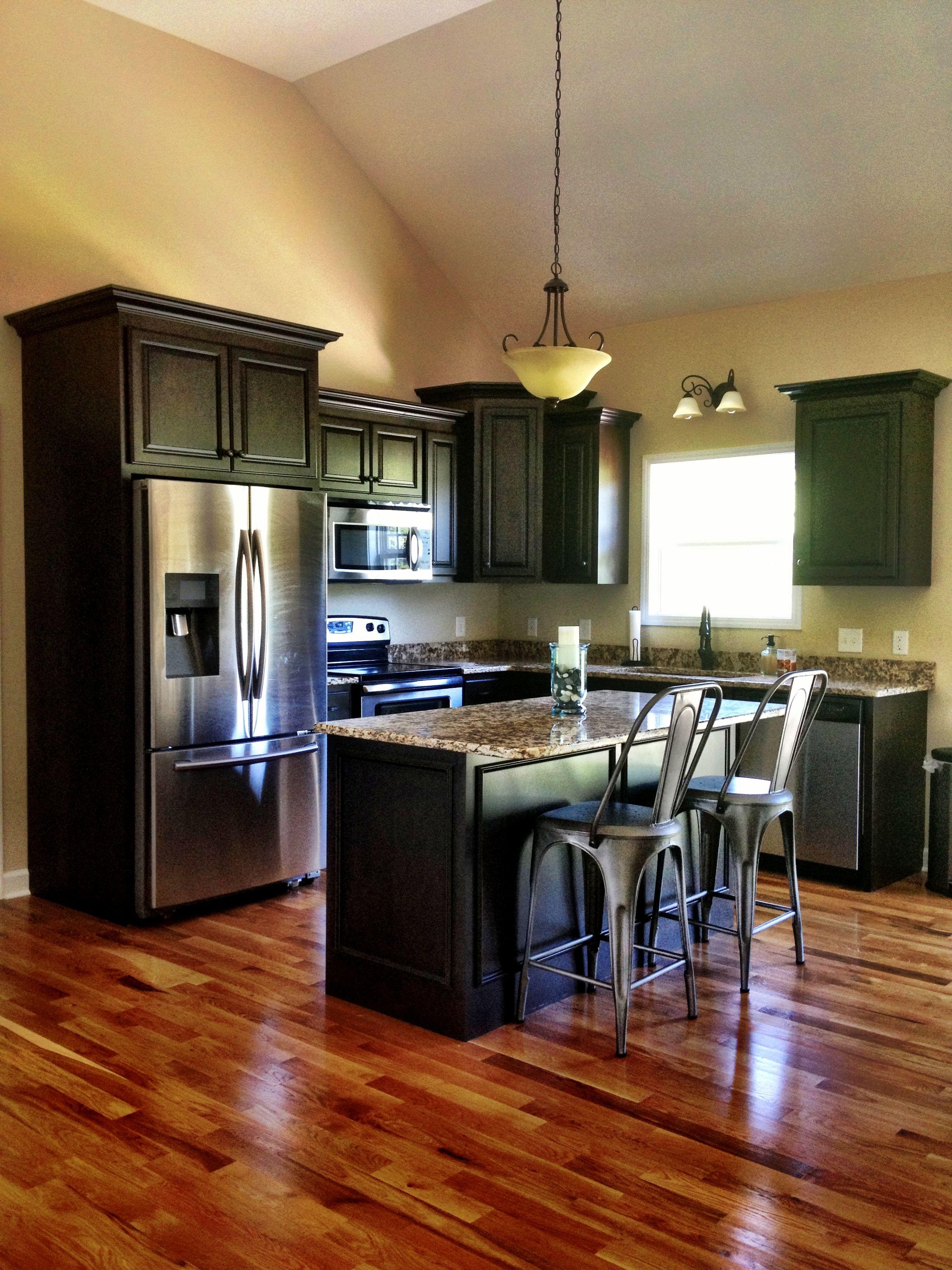 industrial rustic kitchen granite dark kitchen cabinets restoration hardware wood on kitchen ideas with dark cabinets id=35383