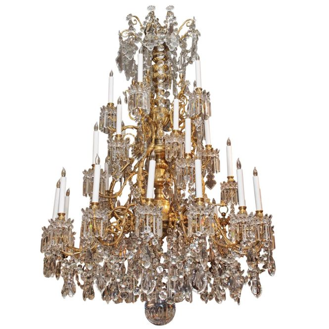 1stdibs Magnificent Antique French Baccarat Crystal Chandelier Circa 1850 1870