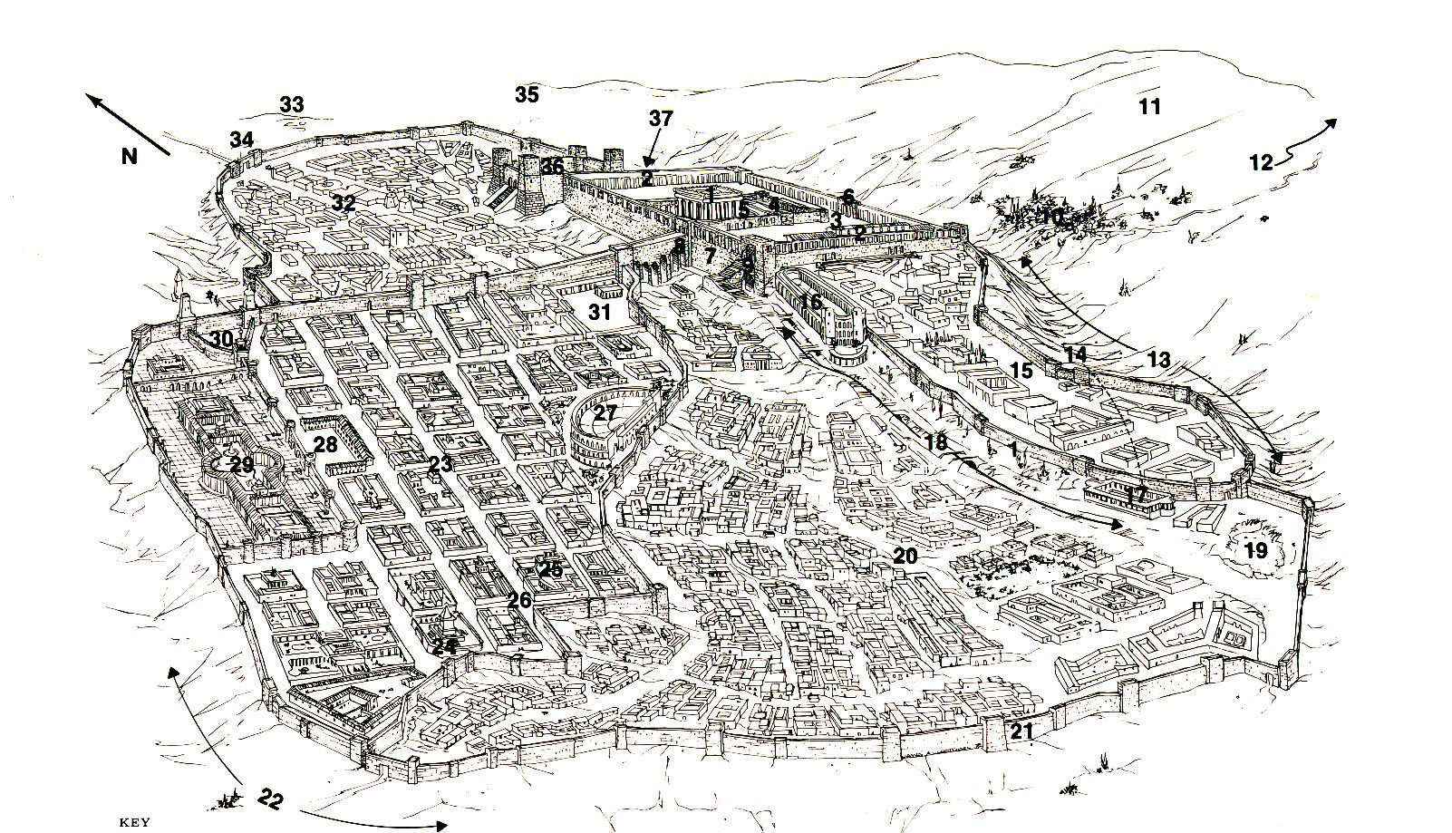 Jerusalem At The Time Of Jesus 1 The Temple 2 Southern Wall And Royal Stoa 11 The Mount Of