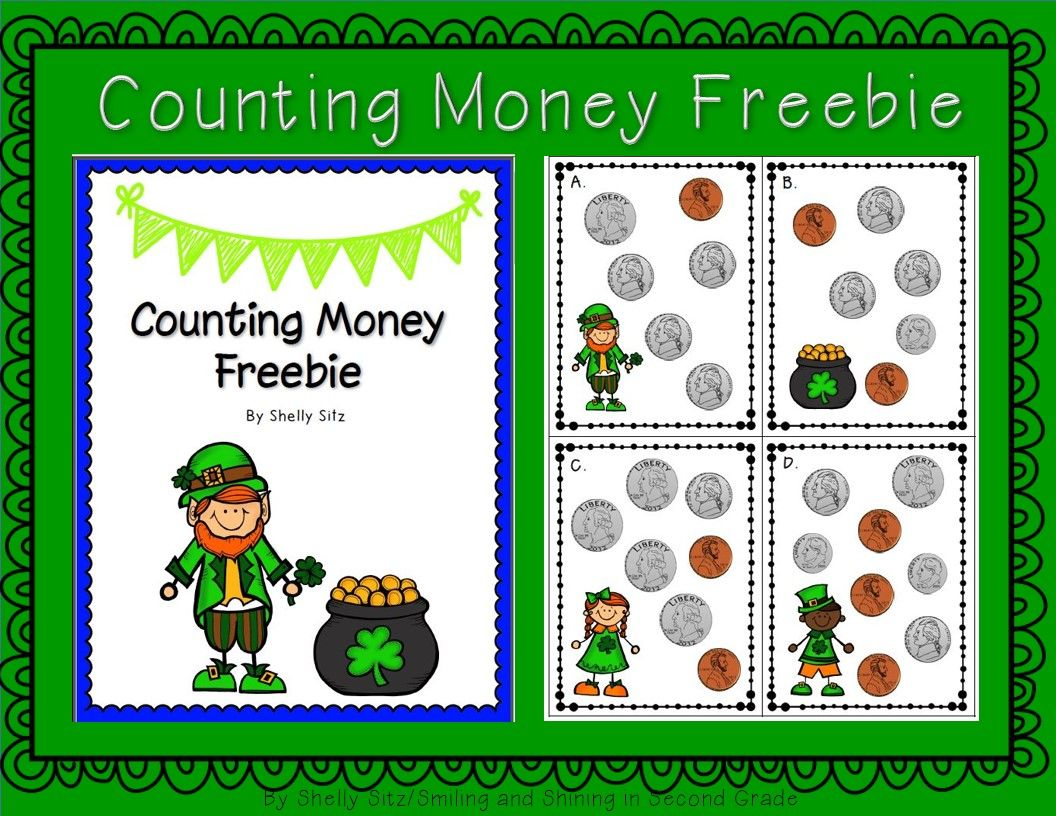 Free St Patrick S Day Counting Money Center 2 8 Solve