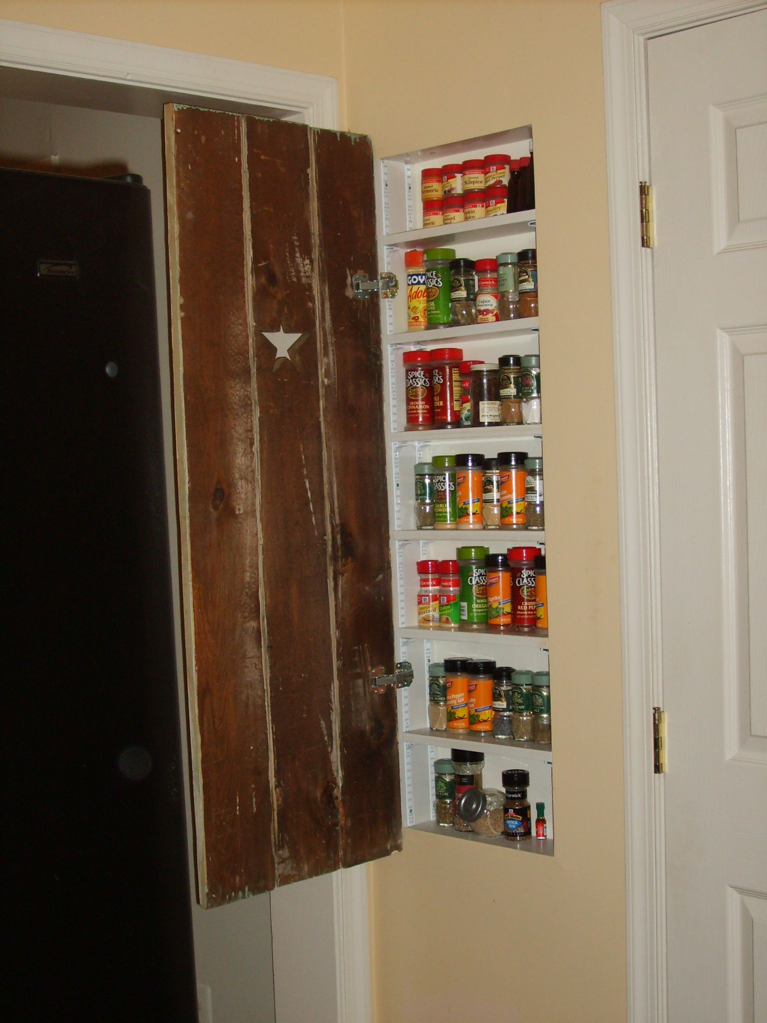 Good Use Of Space Between Studs In Wall Spice Rack For