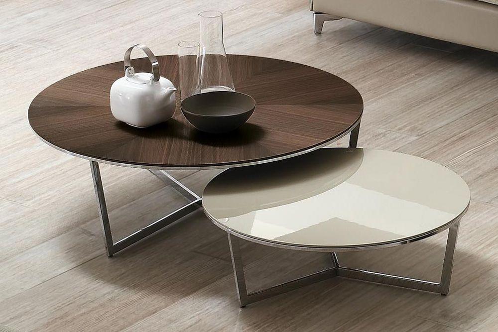 Designer Giuseppe Bavuso Harpa Coffee Table With Chrome