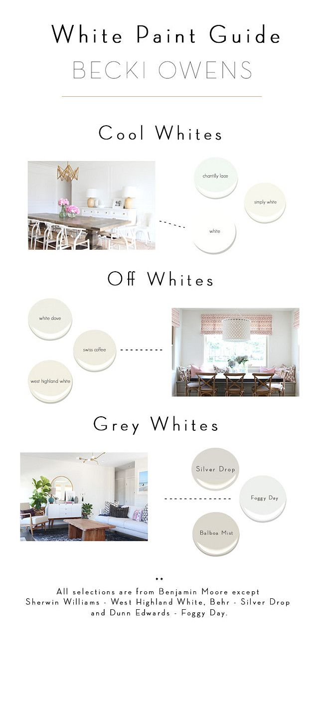 Cool Whites Off Whites and Gray White Paint Color Ideas  PAINT