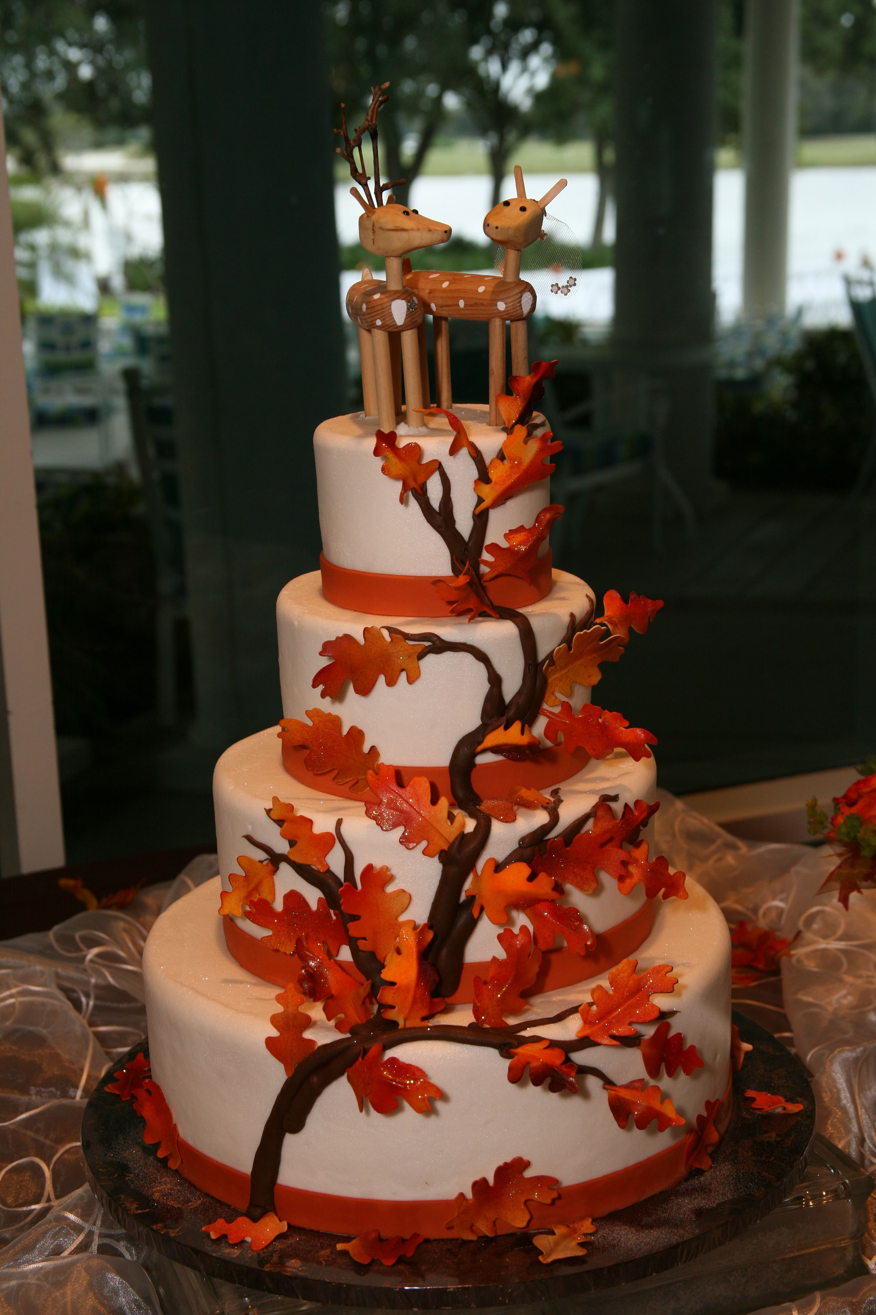 Fall Tree Wedding Cake Maybe With A Thicker Base For