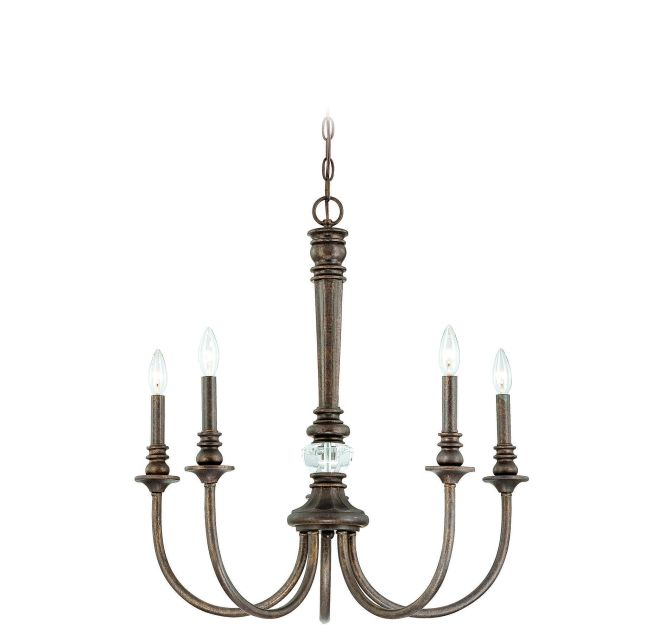Jeremiah Cambridge 5 Light Up Chandelier In Tortoise Le Ceiling Lights Chandeliers