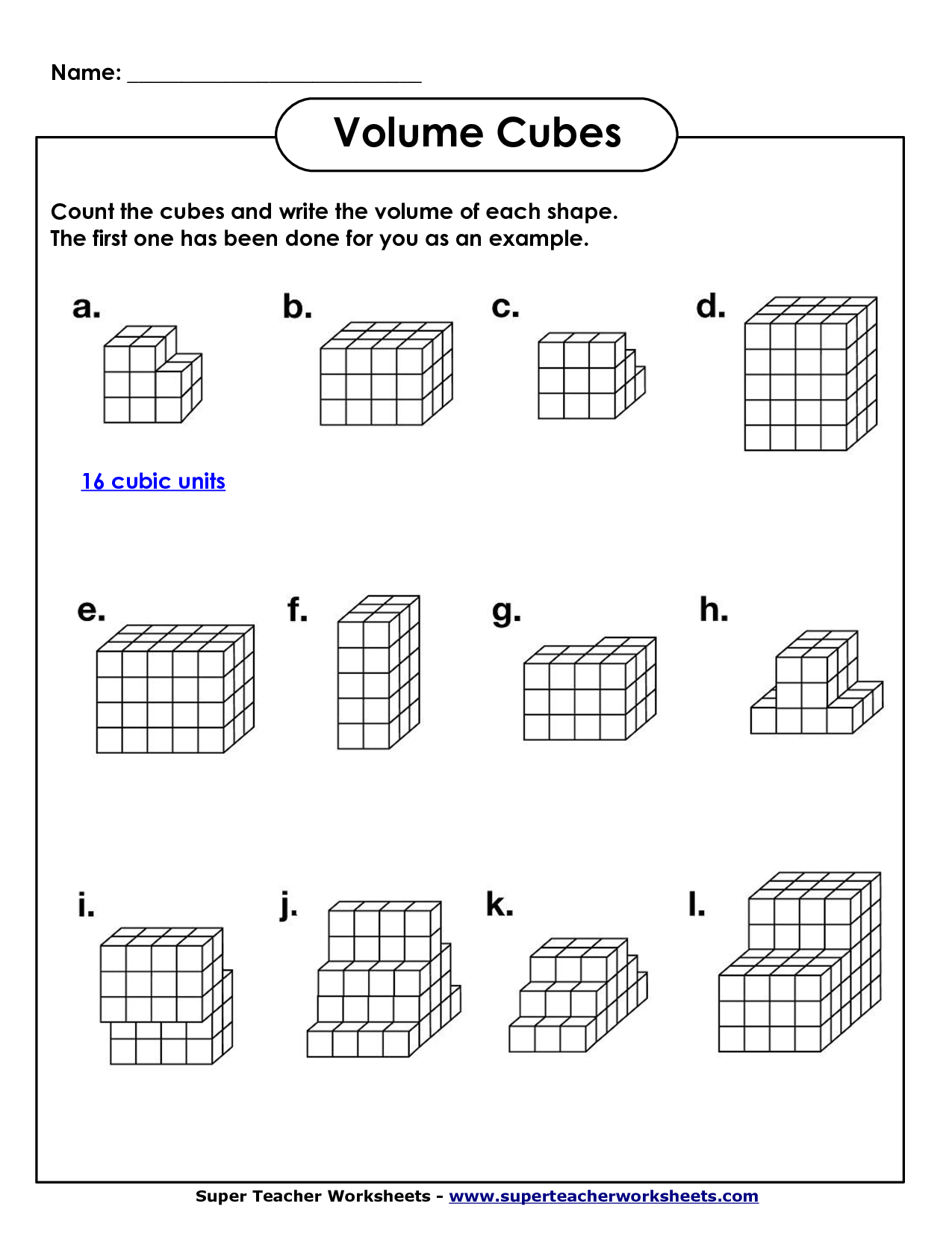 50 Worksheet Math Volume