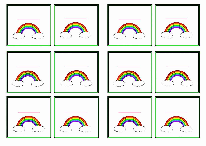 Free Printable Rainbow Themed Name Tags Themed Name Tags
