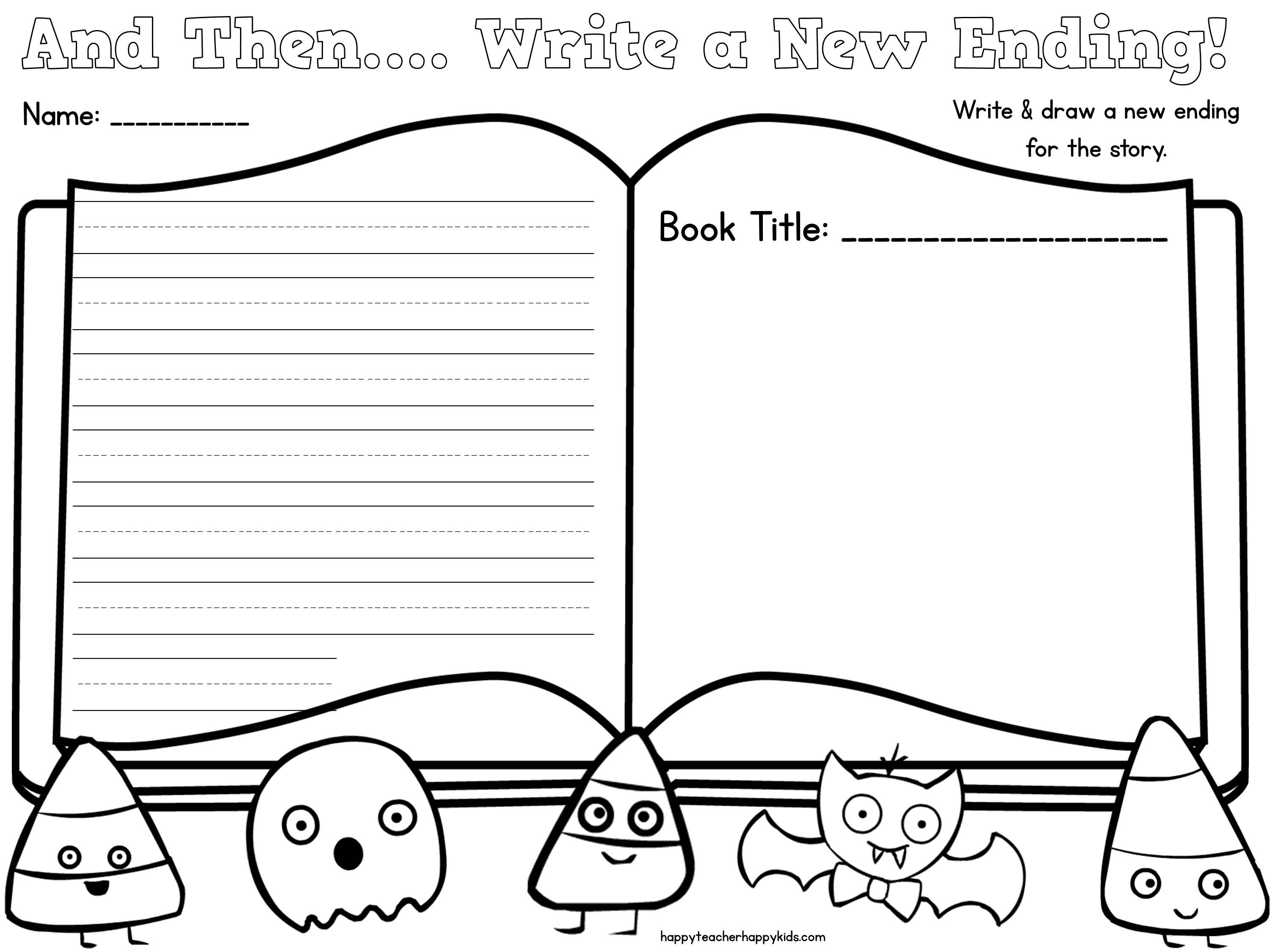 Write A New Ending For A Spooky Story Reading Comprehension Activities To Use With Any Book