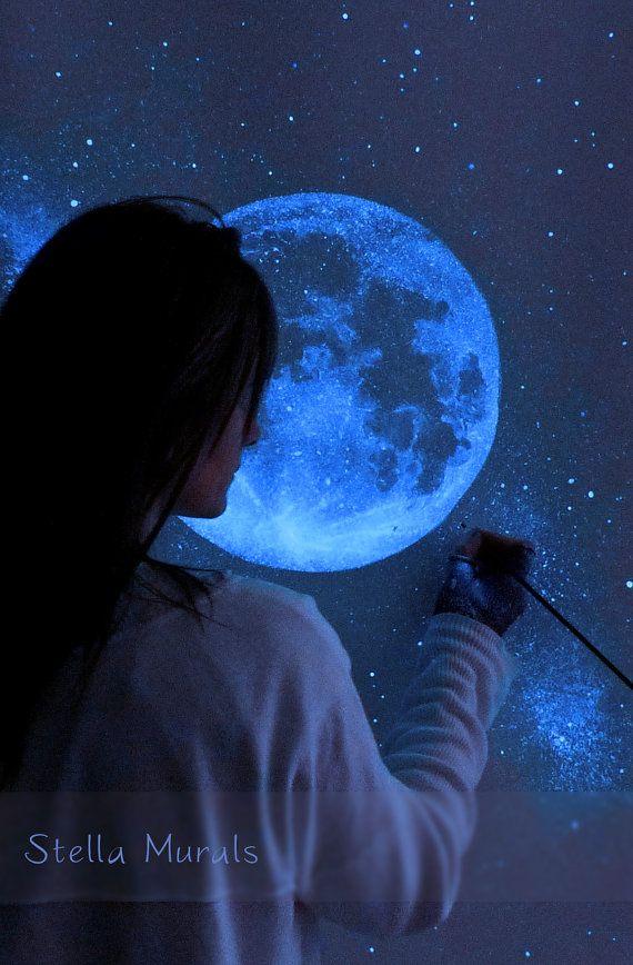 Glow in the Dark Self-Adhesive Star Mural Full by ...