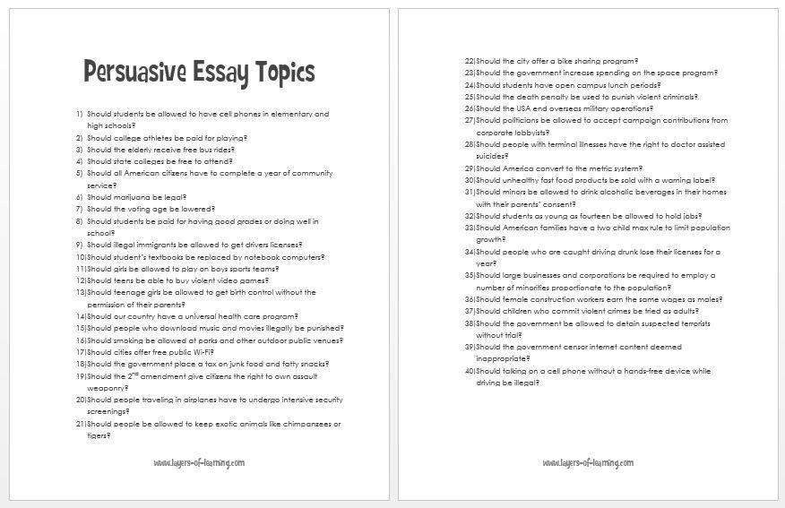 fun argumentative essay topics   sansurabionetassociatscom topics for argumentative essay highschool students mistyhamel
