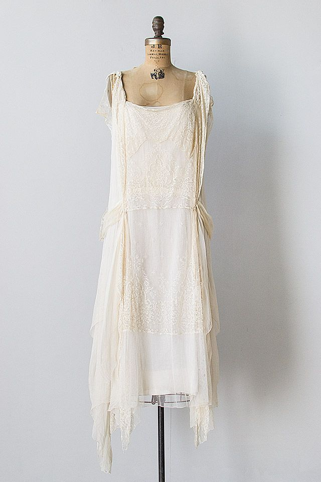 Eve of Coronation Dress | vintage 1920s chiffon flapper ...