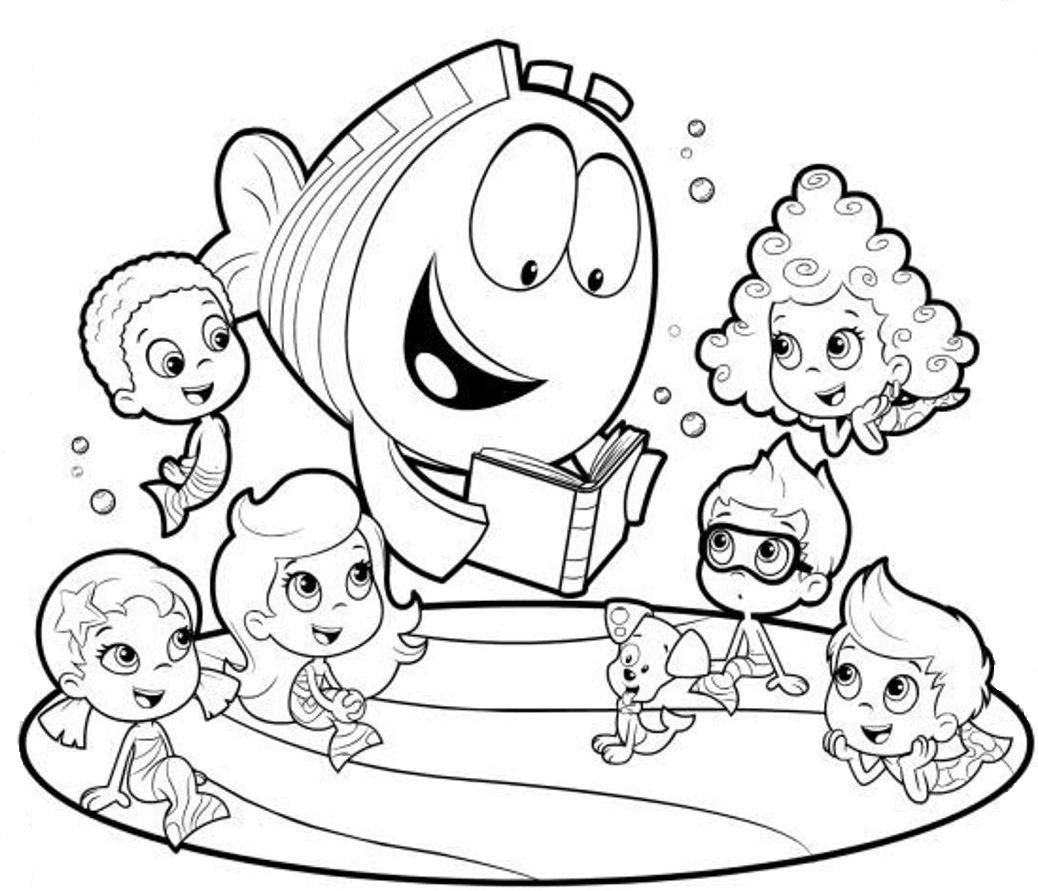 Bubble Guppies Coloring Pages To Print 891