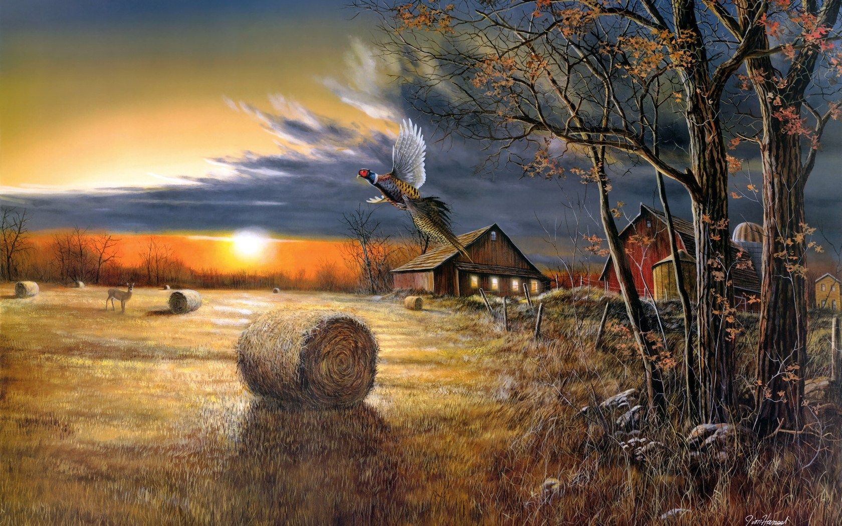 country landscapes hansel artistic paintings prints on Rustic Country Paintings id=39979