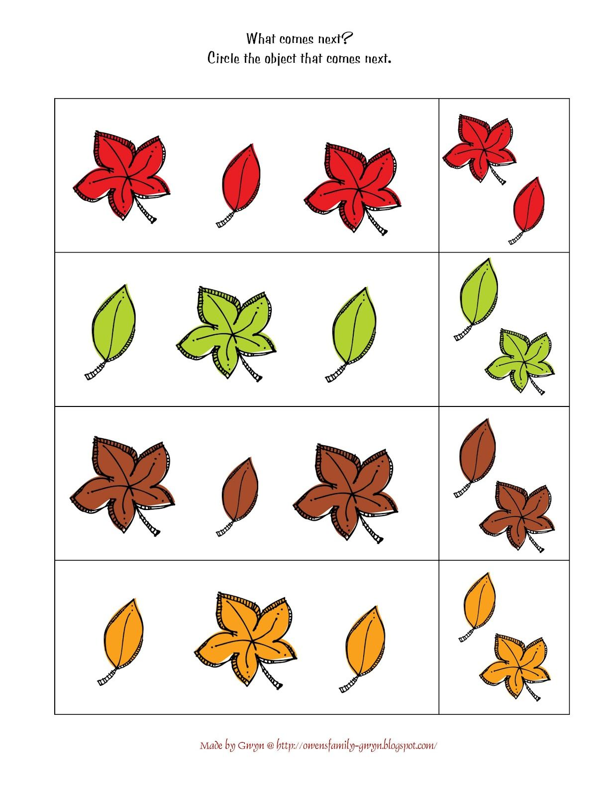Preschool Harvest Worksheet