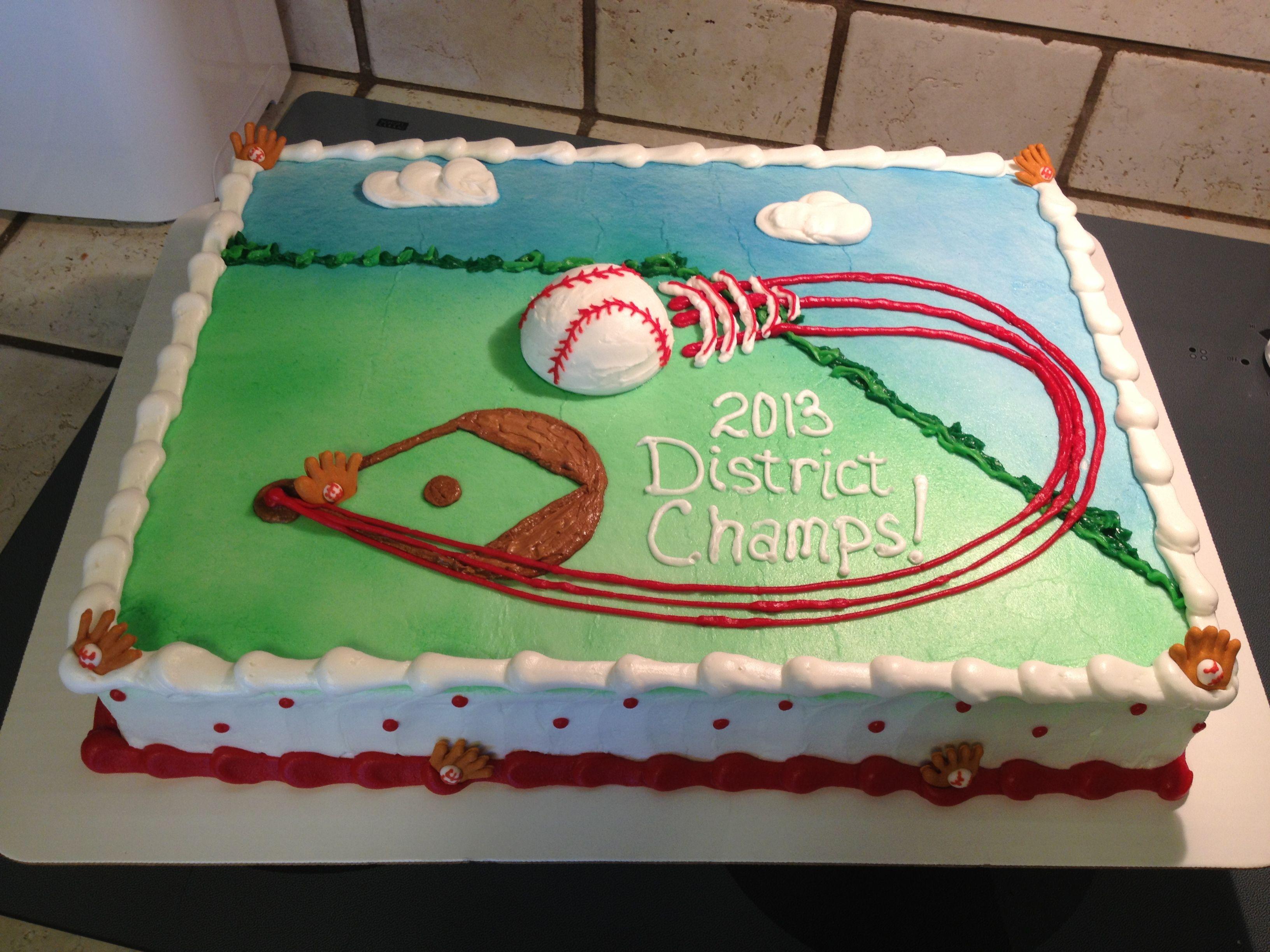 Baseball Sheet Cake