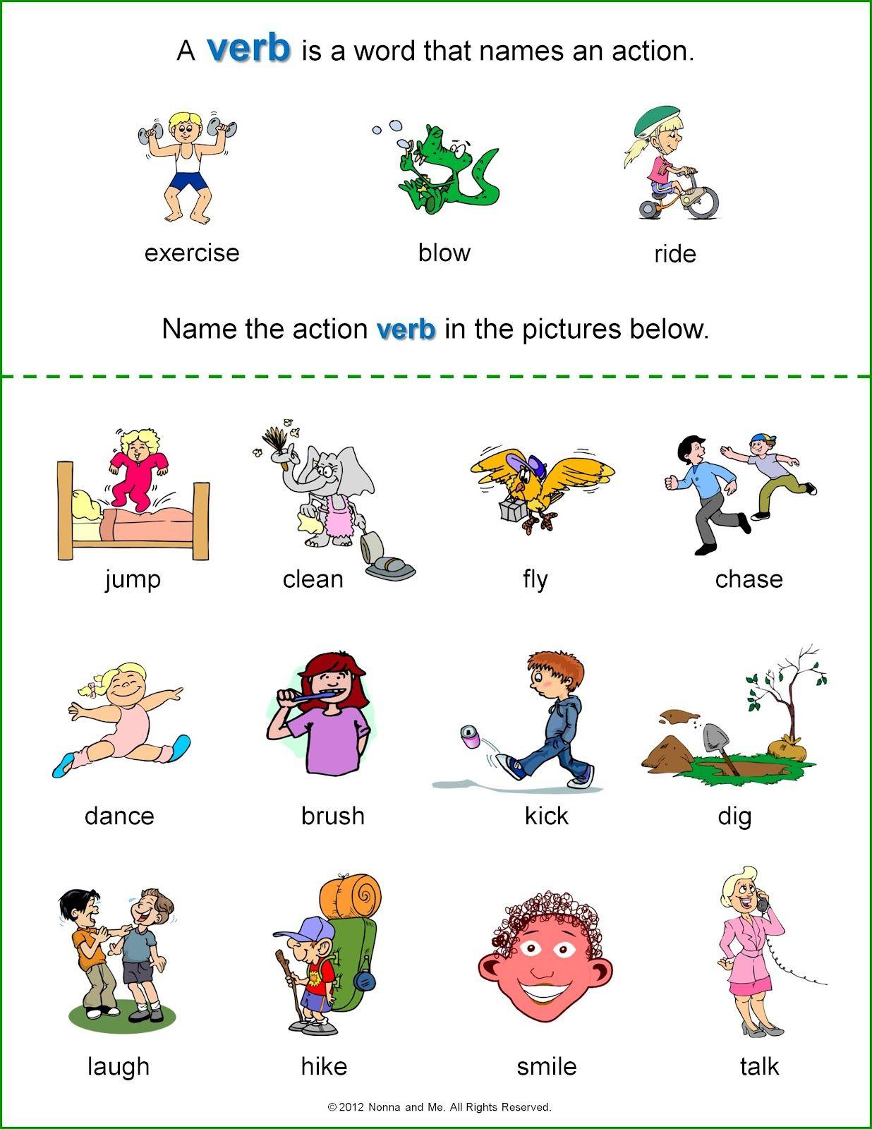 Basic Verbs Worksheets