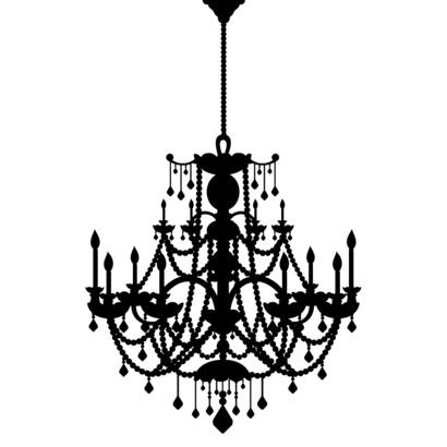L And Stick Wall Decal Rhinestone Chandelier This Will Be Going Up On My